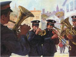 Band playing Ready-to-Hang Print
