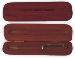 Rosewood Pen Box Personalized