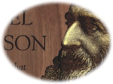 """Solid Cherry Engraved Wood Plaque 9x12"""" - detail"""