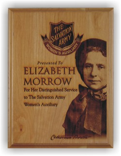"""Solid Cherry Engraved Wood Plaque 9x12"""""""