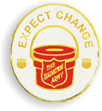 """Expect Change"" Kettle Lapel Pin"