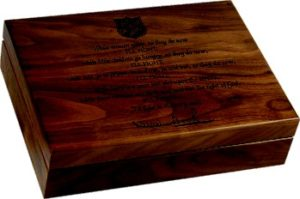 Engraved Large Walnut Box