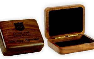 Engraved Small Walnut Box