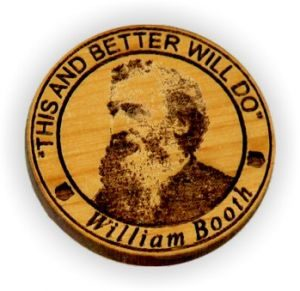Engraved William Booth Wooden Token