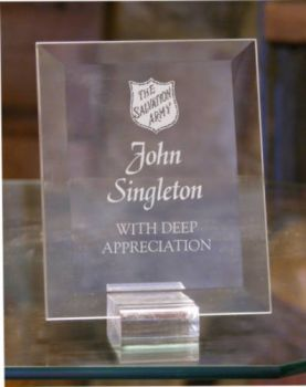 Glass Desk Plaque