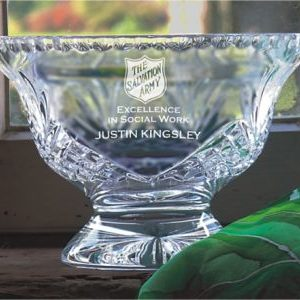 Cut Crystal Pedestal Bowl, Large
