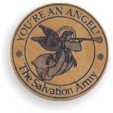 """You're an Angel"" Wooden Token"
