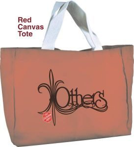 "Red Canvas Tote, ""Others"""