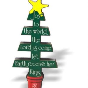 Joy to the World Tree Wood Cutout