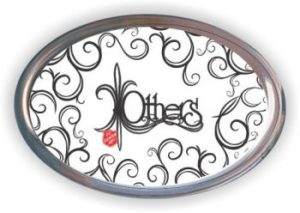 """""""Others"""" Oval Glass Paperweight (E. Booth)"""